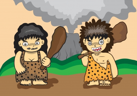 stone age vector cartoon Vector