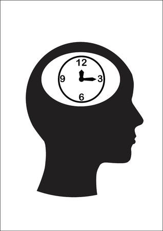 Man and thinking, and time  Stock Vector - 15247974