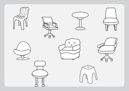 Collection of chair Stock Photo - 15402025