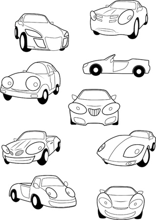 Collection of car Vector