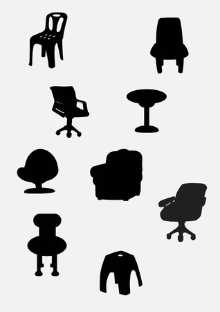 Collection of chair Stock Vector - 15726358