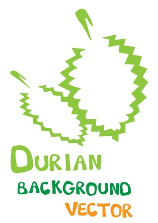Durian background Vector