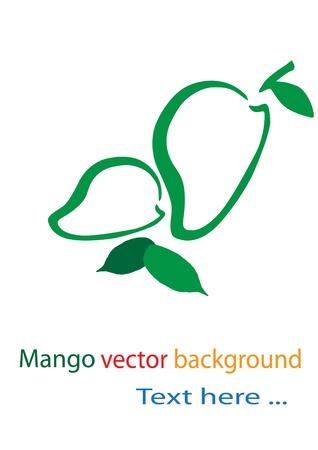 mango fruta: Fondo Mango Vectores