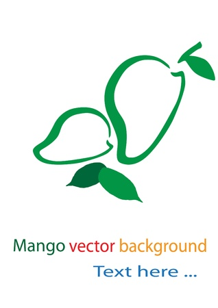 Mango background Vector