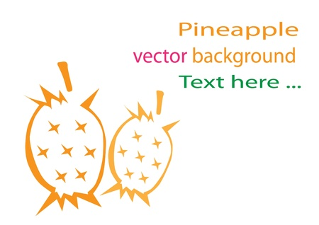 pineapple background Stock Vector - 15726336