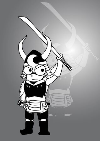 Samurai cartoon Vector