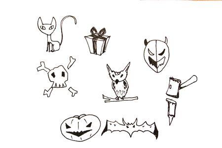 haloween: Drawing cartoon haloween