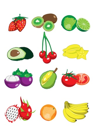 Collection of fruit Vector