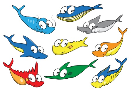 Collection of fish vector  Stock Vector - 16232306
