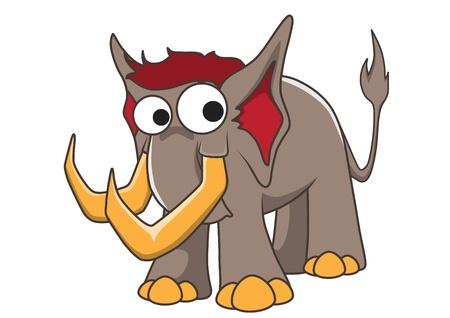 Mammoth vector cartoon Stock Vector - 16232301