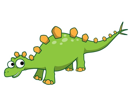 Stegosaurus vector cartoon Stock Vector - 16232295