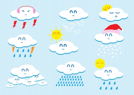 Weather vector cartoon  Vector
