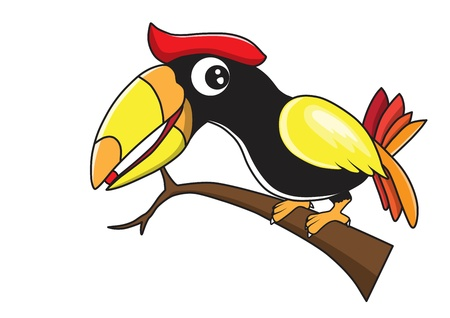 hornbill: Hornbill cartoon