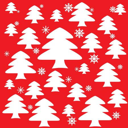 Christmas trees background  Stock Vector - 16728747