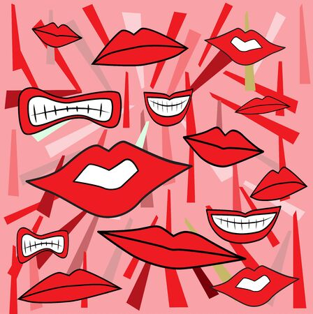 Mouth background  Vector