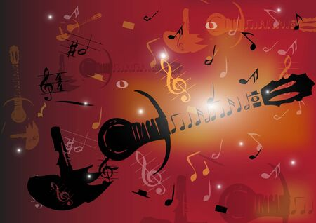 Guitar abstrack background Stock Vector - 17103270