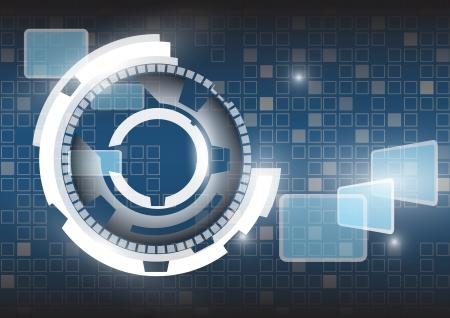 ingenieria industrial: Tecnolog?a abstracto del vector del fondo