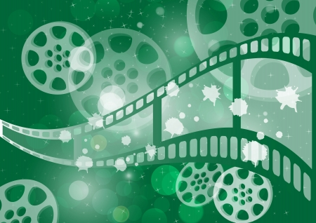 film industry: Background film vector