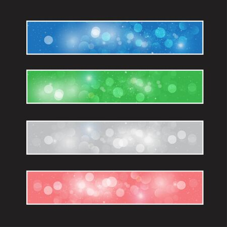 Collection abstract vector background Vector