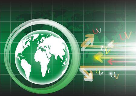 Globe vector background eps 10 Stock Vector - 17619203