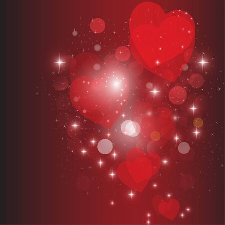Heart red vector background   Vector