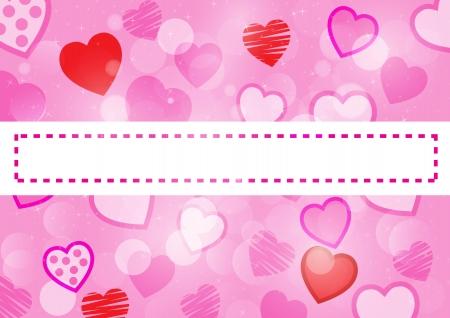 Pink heart background  Vector