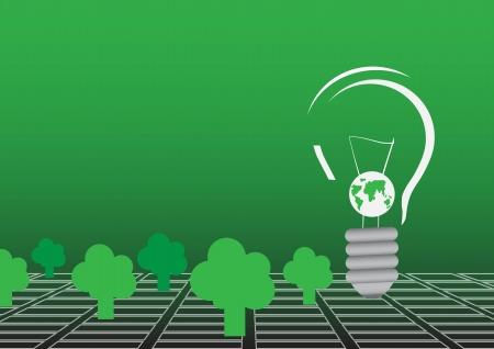 environmentalist: World and tree vector