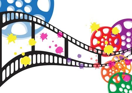 Antecedentes vector película Ilustración de vector