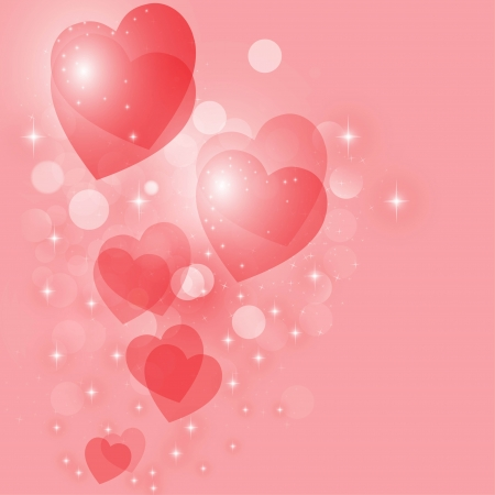 Heart vector background Vector