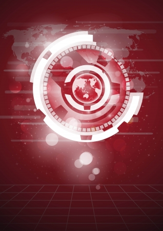 Globe vector and technology background