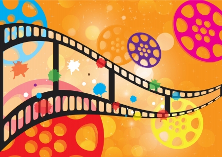 hollywood movie: Background film vector  Illustration