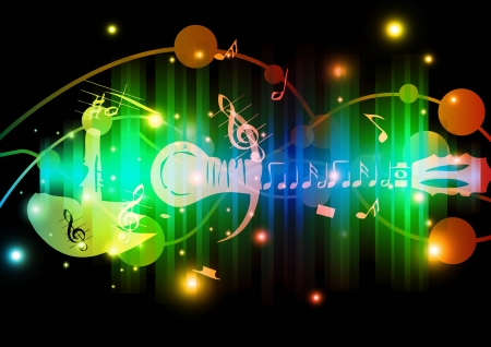 abstract art colorful music background  Vector