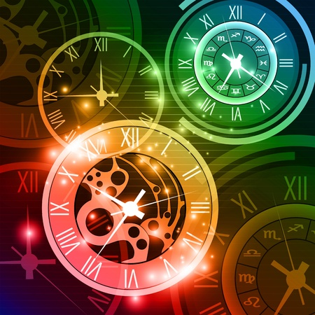 abstract clock background Stock Vector - 18566457