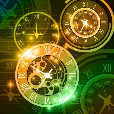 abstract clock background Stock Vector - 18566455