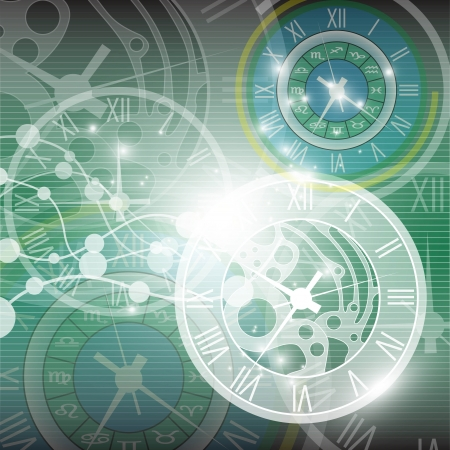 abstract clock background Stock Vector - 18566460