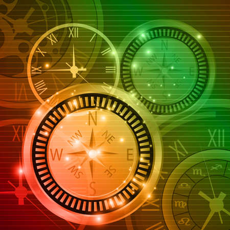 abstract compass background vector  Vector