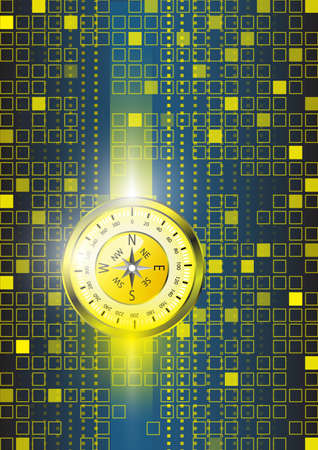 Abstract compass and technology background Vector