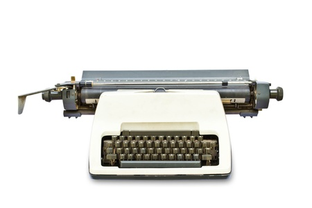 Typewriter on a white background photo