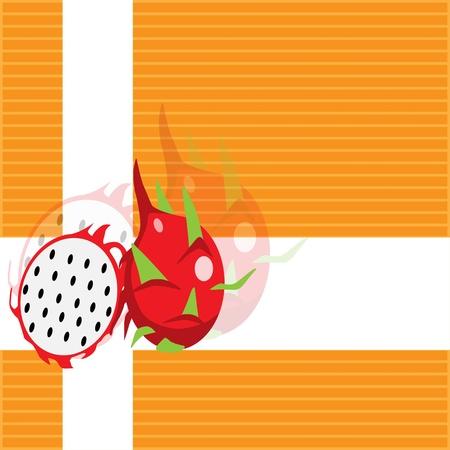 dragon fruit: Dragon fruit background paint by illustrator  Illustration