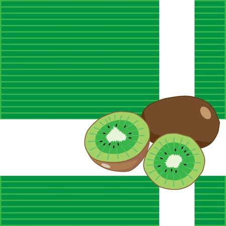 kiwi fruit: Fondo de la fruta de kiwi pintura del ilustrador Vectores