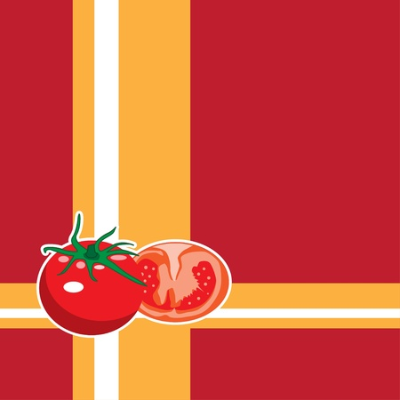 Tomato background paint by illustrator  Vector