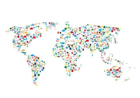 sociaal netwerk, communicatie in de wereldwijde netwerken