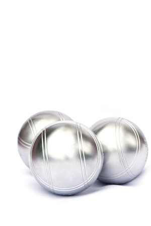 bocce ball: Petanque on white background