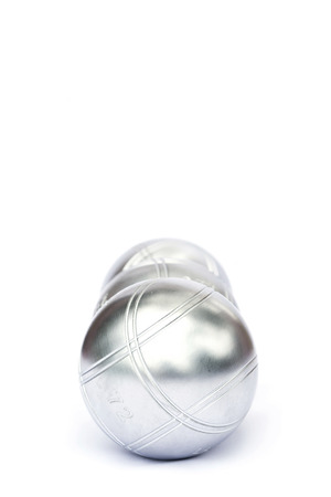 Petanque on white background