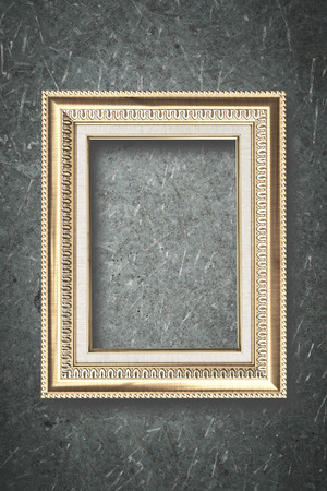 Photo frame on wooden board background texture photo