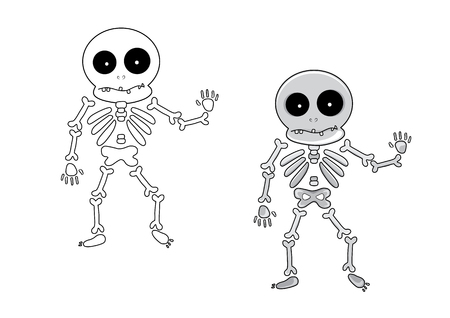 Cartoon skeleton for Halloween Stock Vector - 23654086