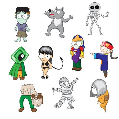 Halloween ghost cartoon, No effect Stock Vector - 23654088