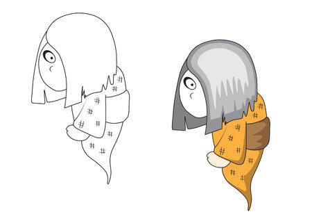 Halloween ghost cartoon, No effect Stock Vector - 23654092