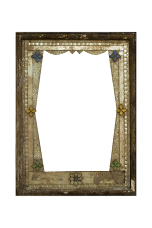 Old frame for a picture, isolated  Stock Photo