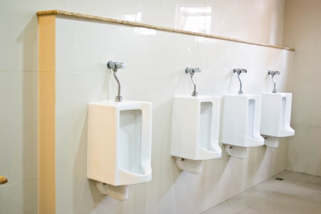 urinal: Urinal in the bathroom at the hotel